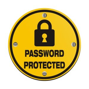 password protected - circle signs