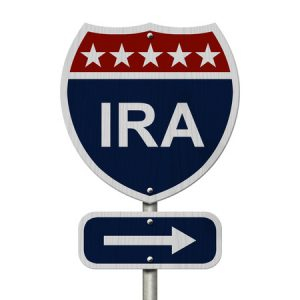 american ira highway road sign, red, white and blue american highway sign with words ira isolated on white