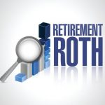 retirement roth business under review concept illustration design over a white background